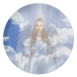 Guardian Angel in the Clouds Plate