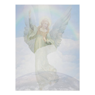 Guardian Angel in the Clouds Print