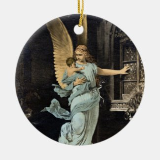 Guardian Angel in the Night Keepsake Art Ornament