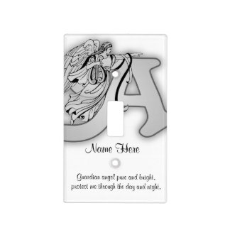 Guardian Angel Letter A Light Switch Cover