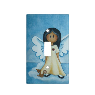 Guardian Angel Light Switch Cover