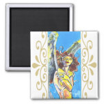 Guardian Angel Magnet 2 Inch Square Magnet
