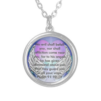 Guardian Angel Message Silver Plated Necklace