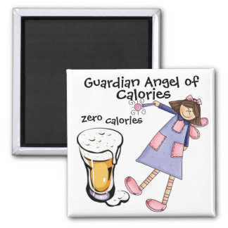 Guardian Angel of Calories by SRF 2 Inch Square Magnet