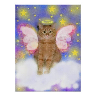 Guardian Angel of Cats Poster