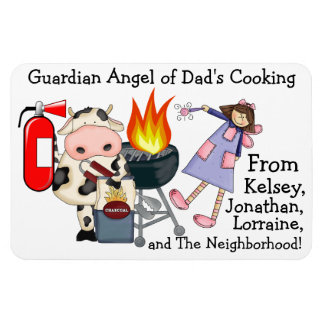 Guardian Angel of Dad's Cooking - SRF Rectangular Photo Magnet
