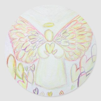 Guardian Angel of Hearts Art Custom Stickers