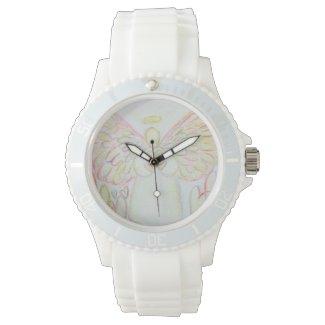 Guardian Angel of Hearts Custom Art Watch Design