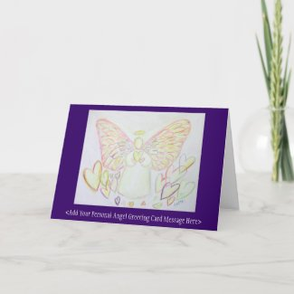 Guardian Angel of Hearts Custom Greeting Art Cards