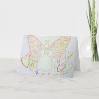 Guardian Angel of Hearts Greeting or Note Cards