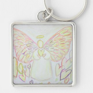 Guardian Angel of Hearts Keychain Custom Pendant