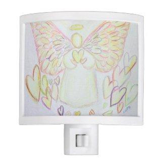 Guardian Angel of Hearts Night Light Art Lamp
