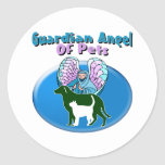 Guardian Angel Of Pets Classic Round Sticker