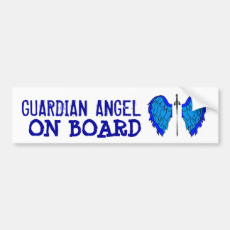 GUARDIAN ANGEL ON BOARD CAR BUMPER STICKER