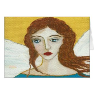 Guardian Angel Original Art Greeting Note Card
