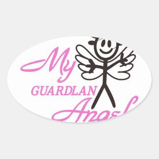 Guardian Angel Oval Sticker