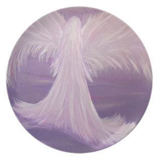 Guardian Angel Painting Dinner Plate