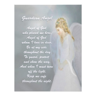 Guardian Angel Poem Customized Letterhead