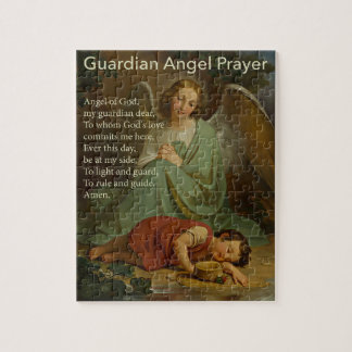 Guardian Angel Prayer for Boys Puzzle