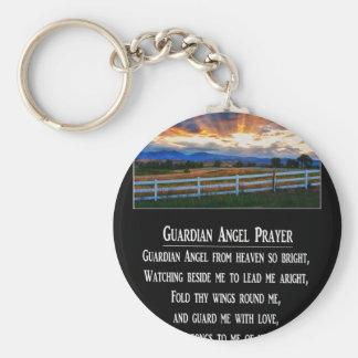 Guardian Angel Prayer Basic Round Button Keychain