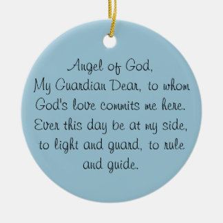 GUARDIAN ANGEL PRAYER ORNAMENT