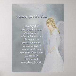 Guardian Angel Prayer Print