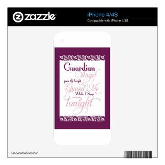 Guardian Angel Prayer Skins For iPhone 4