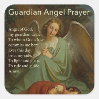 Guardian Angel Prayer with Boy Sticker