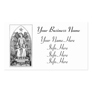 Guardian Angel Protecting Children Business Card Template