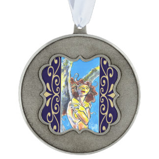 Guardian Angel Round Ornament