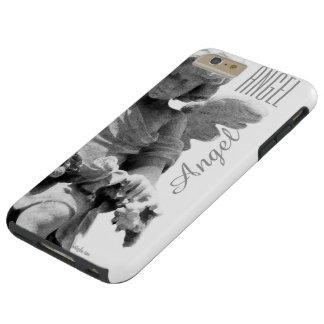 Guardian Angel sculpture retro monogram Tough iPhone 6 Plus Case