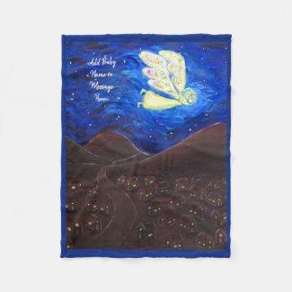 Guardian Angel Soft Fleece Custom Baby Blanket
