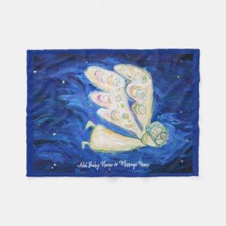 Guardian Angel Soft Fleece Custom Baby Blankets