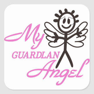 Guardian Angel Square Sticker