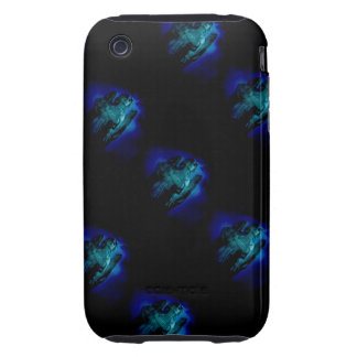 Guardian Angel Statue in Heavenly Blue Tough iPhone 3 Case