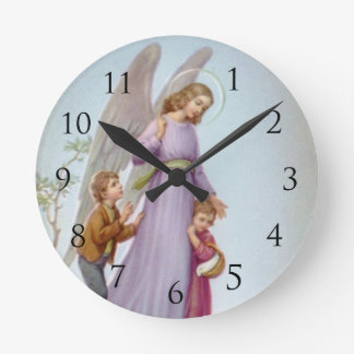 Guardian Angel Wall Clock with Numbers