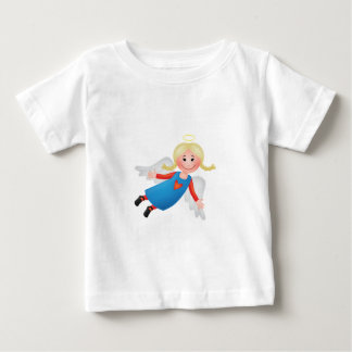 Guardian angel with blond plaits baby T-Shirt