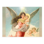 Guardian Angel with Children Post Card
