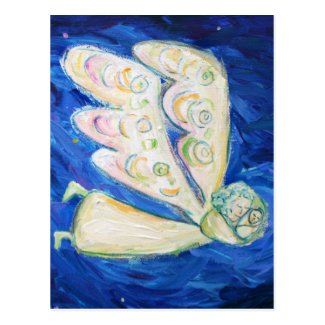 Guardian Angel with Sleeping Baby Art Postcards
