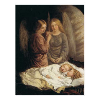 Guardian Angels Christmas Postcard
