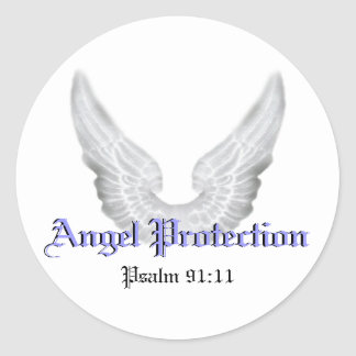 Guardian Angels Classic Round Sticker