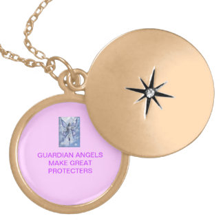 GUARDIAN ANGELS LOCKET NECKLACE