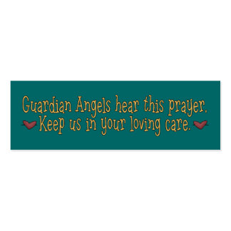 Guardian Angels Prayer Bookmark Double-Sided Mini Business Cards (Pack Of 20)