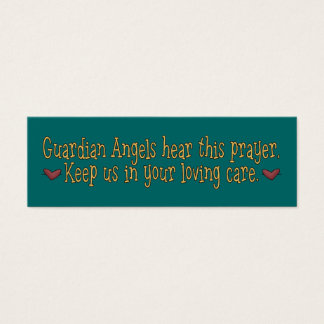 Guardian Angels Prayer Bookmark Mini Business Card