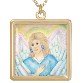 Guardian Angel's Protection Gold Plated Necklace