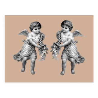 Guardian Angels with Cornucopia Postcard