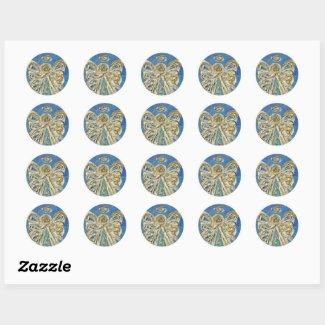 Guardian Blue Angel Art Custom Stickers