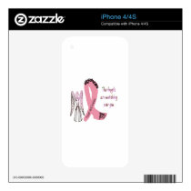 Guardian Breast Cancer Angels iPhone 4 Decal