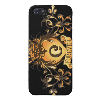 """Guardian Heart Gold Monogram """"C"""" iPhone case Case For iPhone 5"""