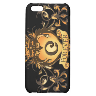 """Guardian Heart Gold Monogram """"C"""" iPhone case Cover For iPhone 5C"""